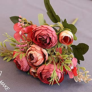 HVdsyf 1 Pieza De Flor Artificial, Vívido Ramo De Camelia DIY Garden Party Home Wedding Craft Decor Púrpura