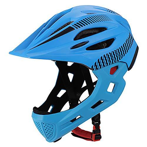 SDKUing Casque de vélo Enfant Casque de Intégral Casque Complet de BMX 42-52cm Anti-Choc...