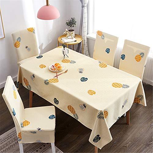 QWEASDZX Tischdecke Kleines frisches Tuch Rechteckige Tischdecke Elastischer Stuhlbezug Wiederverwendbare Mehrzwecktischdecke Geeignet für Innen und Außen 120x160cm