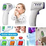 Kelexx Infrared Medical/Clinical Forehead Thermometer for Infants, Children & Adults. Multi-function 2 in1. Non Touch Instant Fever Detection
