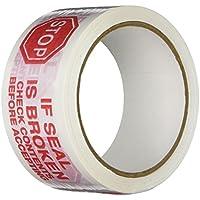 """TapeCase 150SP-10 Bedrucktes Weißes Kartondichtband mit roter Schrift –""""If Seal is Broken"""" – 5,1 cm x 55yds"""