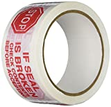 TapeCase 150SP-10 Bedrucktes Weißes Kartondichtband mit roter Schrift –