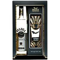 Beluga Export Noble Russian Vodka con paquete regalo mit 1 Rocking Glas - 1 x 1 l