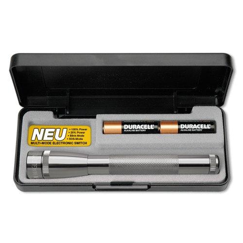 Mag-Lite SP22097F Mini Maglite 2AA Multimode Hochleistungs-LED-Taschenlampe, 17 cm titan-grau inkl. 2 Mignon-Batterien im Etui
