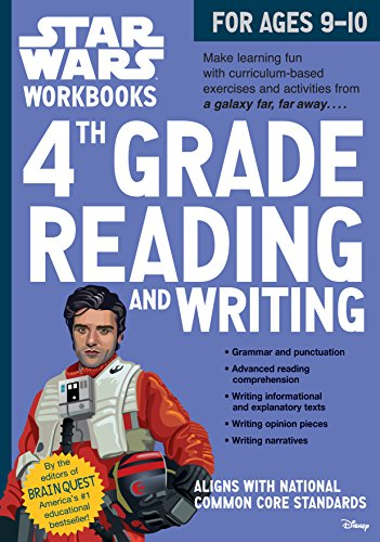 Star Wars Workbook: 4th Grade Reading and Writing (Star Wars Workbooks) (Grade 4 Brain Workbook Quest)