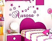 Adesivo Murale Nome Personalizzato Wall Stickers Personalizzato Decorazione Cameretta Bambina Adesivi Murali N