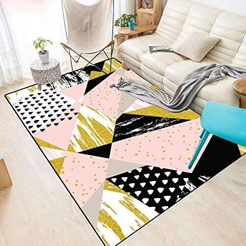Schlafzimmer-zeitgenössische-sofa (Rutschfeste Teppiche Rutschfeste Teppichbodenmatte Geometrie Nordeuropa Zeitgenössisch Moderner Einfaches Stil Wohnzimmer Sofa Schlafzimmer Nachtdecke Teetisch Mat Tatami Rosa Mädchenzimmer Kreativ f)