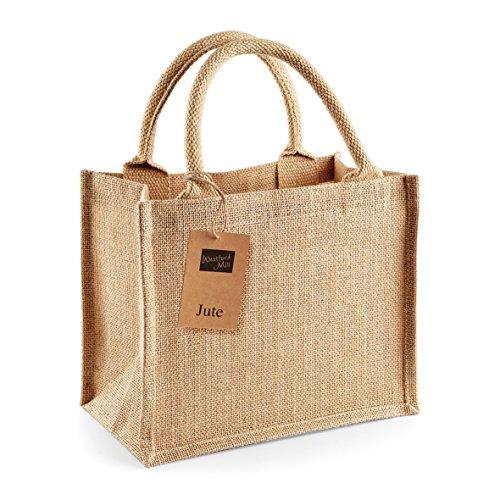 Jute mini bag - borsa piccola Juta con manico beige o nero Giallo