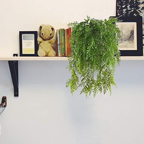 MIHOUNION Hängende Pflanzen Farn 2Pcs Künstliche Pflanzen Adiantum Fake Blumen Grün Plastikblumen Balkonpflanzen für Büro Deko Garten Park Wand