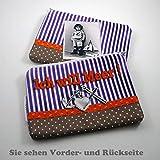 Kosmetiktasche Kosmetiketui handmade Schminktasche bedruckt retro oldshool Damen - ICH WILL MEER-