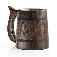 Boire comme un guerrier médiéval que nous ayons tous les vus dans les films, à la télévision, et peut-être même dans les musées. Maintenant vous pouvez avoir une sur votre propre table. Cette tasse à bière en bois de chêne massif a été faite selon un...