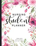 Nursing Student Planner 2020-2021: Pink Floral Watercolor Cover | 2020-2021 Weekly and Monthly Academic School Year August 2020 - July 2021 | Calendar ... Monthly Planner Year August 2020 - July 2021)