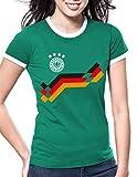 Luckja EM 2016 Trikot Deutschland Fanshirt Motiv 20 Damen Rundhals