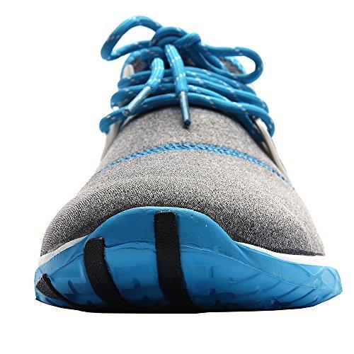 aleader Chaussures de piscine plage Aqua Eau de massage pour femme Bleu