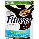 Nestlé Fitness Chocolat Noir - Céréales du Petit Déjeuner - Paquet de 375 g - Lot de 4