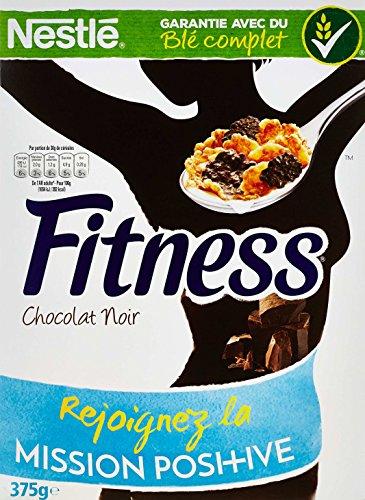 Nestlé Fitness Chocolat Noir Céréales du Petit Déjeuner Paquet de 375 g - Lot de 4