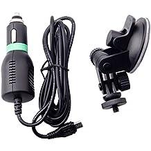 Montaje de Ventosa parabrisas Cable del Cargador + Sostenedor del Coche para la Cámara GoPro Sjcam