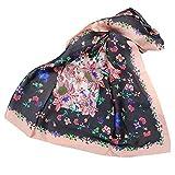 Xmiral Damen Schal Vintage Butterfly Print Chiffon Sonnenschutz gedrückt weiche Schal Wrap Schals(Orange)