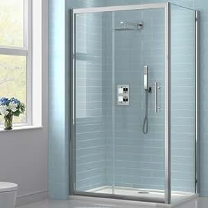 1000 x 760 mm-Rabat de porte coulissante en verre pour douche &avec plateau en verre