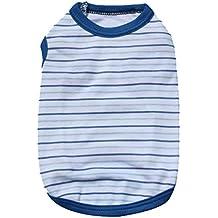 YiJee Carino Maglia Vestiti per Cane Morbido Strisce Gilet Marina T-shirt Abbigliamento del Cucciolo Come immagine4 L