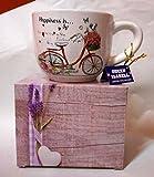 "Teetasse ""Happiness"" Porzellan mit Geschenkbox NEU Limited Collection Kaffeetasse"