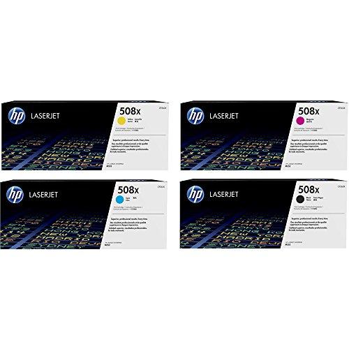 9500 Farbe (4x Original XL HP Toner CF360X CF363X 508X für HP Color Laserjet Enterprise M 553 DN - Black, Cyan, Magenta, Yellow - Leistung: BK ca. 12500 Seiten / Farben ca. 9500 Seiten/5%)