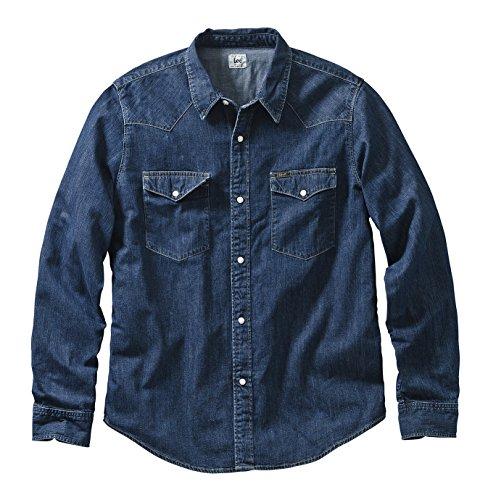 Lee - Camicia casual Classico, Uomo, Blu (Blau (Dark Stone)), XL
