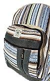 Handgemachter Rucksack / Daypack / Backpack aus natürlichem Hanf mit Laptop-Tasche - UNISEX - MADE IN NEPAL (Blue Stripes) - 4
