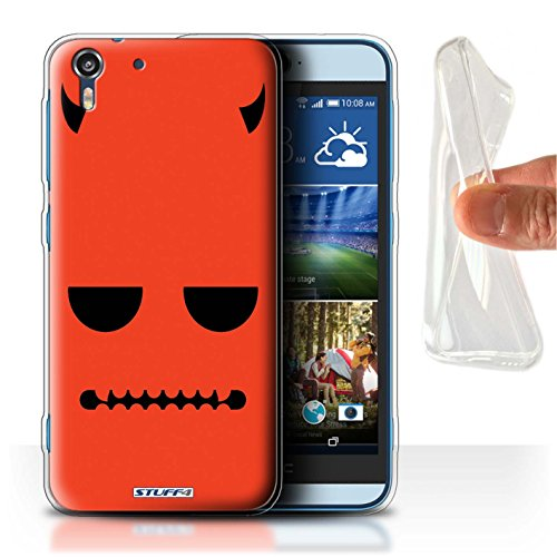 (Stuff4® Gel TPU Hülle/Hülle für HTC Desire Eye LTE/Teufel Muster/Halloween Zeichen Kollektion)