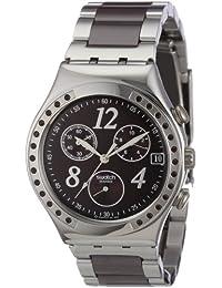 Swatch Edifice - Reloj de mujer de cuarzo, correa de acero inoxidable color plata