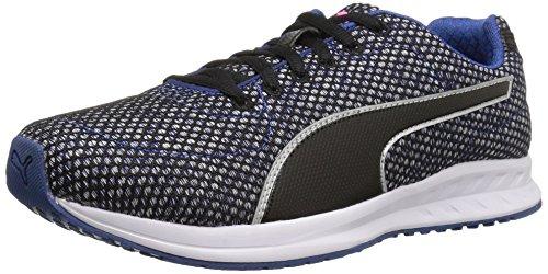 Puma Women's Burst Tech WN's Cross-Trainer Shoe, True Blue Black White, 6 M US (Dc-cross-trainer)