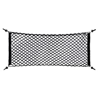 Car Storage Net,110x60cm Nylon Plastic Black Car Storage Bag Truck Rear Cargo Net Luggage Organizer Storage Add On Organizers for Car/Truck