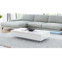 Vienna - Mesa de salón, color blanco, 120 cm