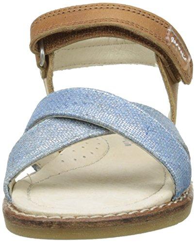 Garvalin Espiel, Sandales fille Bleu (A Cuero Y Jeans Kaiser Y Tejido)