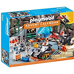 Playmobil Calendario de Adviento-9263 Agentes, Negro, Color Blanco (9263) , Modelos/colores Surtidos, 1 Unidad