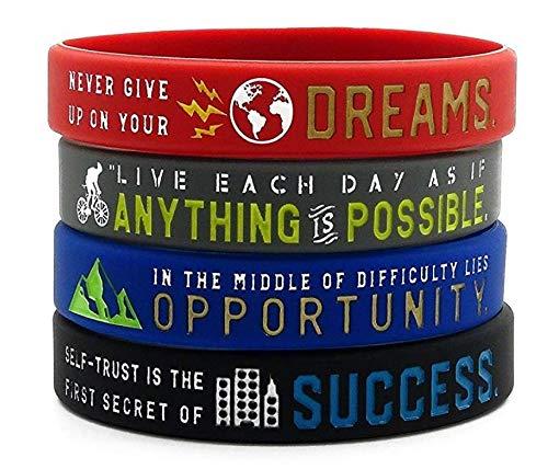 Zoom IMG-1 11thgear braccialetti motivazionali con scritta
