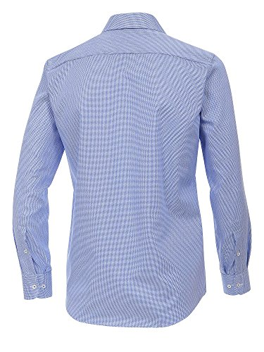 CASAMODA Herren Businesshemd 37265700 bügelfrei 100% Baumwolle - Modern Fit Blau