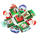 Tumao Explosion Geschenk-Box Weihnachts, Kreative Überraschung Box DIY Geschenk Handgemachtes Scrapbook Zubehör Faltendes Fotoalbum.(Weihnachten)