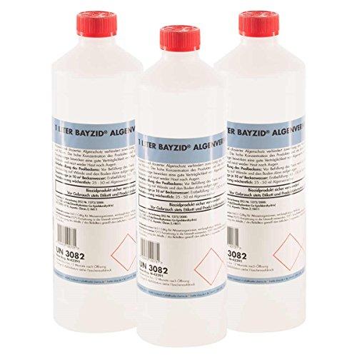 Höfer Chemie 15x1 L Pool Algenvernichter - Anti Algenmittel für Schwimmbad & Pool - schnelle Wirkung bei Algen