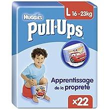 Huggies Pull-Ups, 44 Mutandine di apprendimento per bambino, Taglia 6 (16-23 kg), 2 confezioni da 22