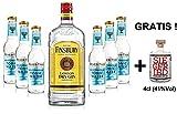 Gin Tonic Set - Finsbury London Dry Gin 70cl (37,5% Vol) + 6x Fever Tree Mediterranean Tonic Water 200ml + Siegfried Gin mini 4cl (41% Vol)