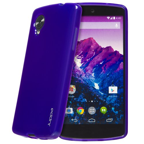 Juppa® LG Google Nexus 5 TPU Silikon Tasche Hülle Schutzhülle mit LCD displayschutzfolie (Rose / Pink) Lila / Purple