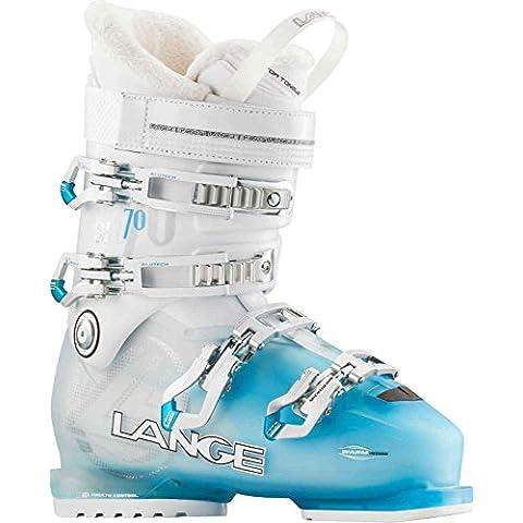 Lange SX 70 W - Botas de esquí para mujer, color azul / blanco, talla 25