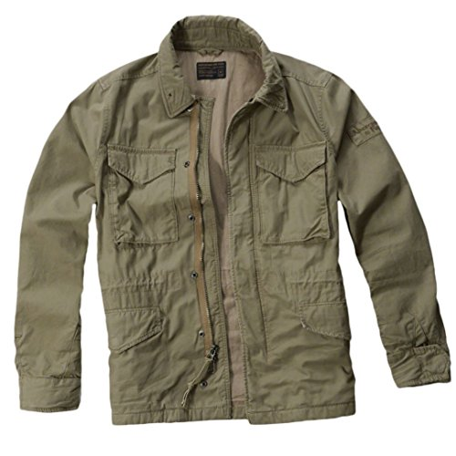 abercrombie-mens-twill-military-jacket-coat-size-m-olive-620857806