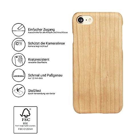 """Iphone 7 /7 Plus Echtholz Schutzhülle Handy Kevlar Extra Dünne Holz Hülle Bumper Hard Case Cover 4.7"""" / 5.5"""