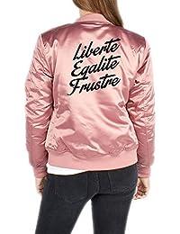 Certified Freak Liberte Egalite Frustre Bomber Chaqueta Girls Rosa
