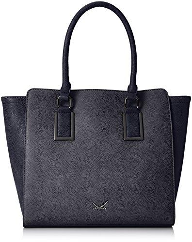 Sansibar Damen Shopper, Blau (Jeans), 43x30x10 cm