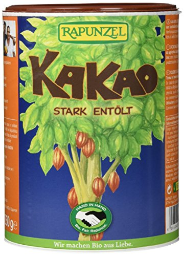 Afrikanischer Kakao (Rapunzel Bio Kakaopulver stark entölt HIH (2 x 250 gr))