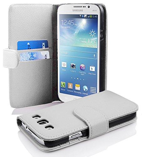 Cadorabo Samsung Galaxy Mega 5.8 Funda de Cuero Sintético Estructura en Blanco...