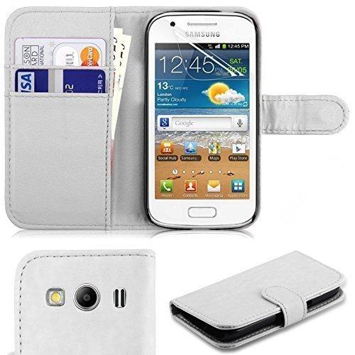 Connect Zone Portefeuille cuir PU étui à rabat pour Samsung Galaxy Trend 2 Lite (G318H) inclus Protection D'écran et Chiffon De Polissage